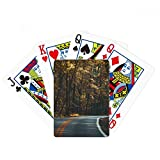 beatChong Road Grass Forest Autumn Travel Dark Poker Playing Cards Tabletop Game Gift