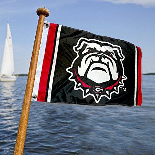 UGA BulldogsボートとNautical Flag B07CMH7CQJ 13341