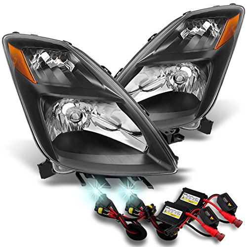 Toyota Prius Halogen Type Clear Headlights Left + Right Side Replacement Pair + Slim 6000K HID Kit (Prius Headlight Assembly Hid compare prices)