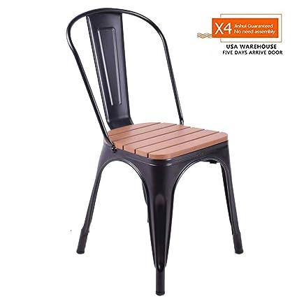 Amazon Com Indoor Outdoor Tolix Metal Dining Chairs With Plastic