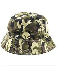 Children Kids Summer Canvas Camping Fishing Sunscreen Bucket Beanie Hat Camouflage