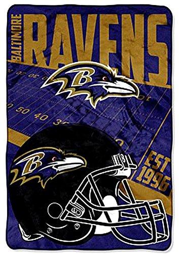 29a5d647 Baltimore Ravens blanket bedding 62x90 XXL NFL throw