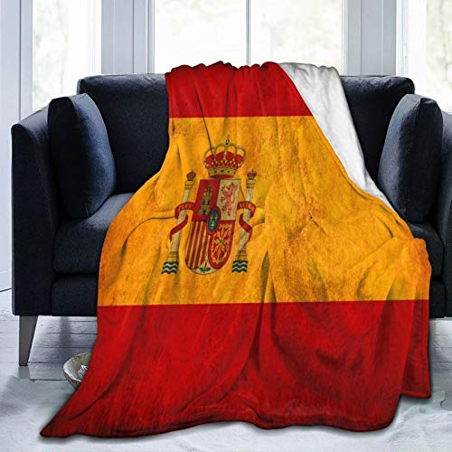 "SINOVAL9 Ultra-Soft Micro Fleece Blanket,Spain-Grunge-Flag,Home Decor Warm Throw Blanket for Couch Bed,50""X 40"""