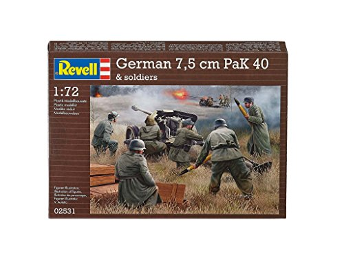 Revell Germany Kids 1/72 German Pak 40 with Soldiers Model (Soldier Model)