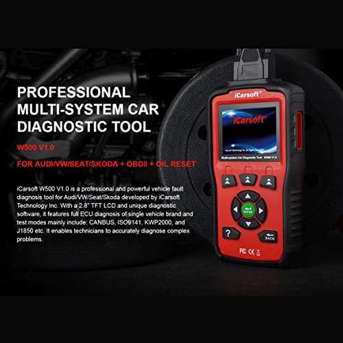 iCarsoft Auto Diagnostic Scanner W500 V1.0 for Audi/VW/Seat/Skoda with ABS Scan,Oil Service Reset ect by iCarsoft (Image #4)
