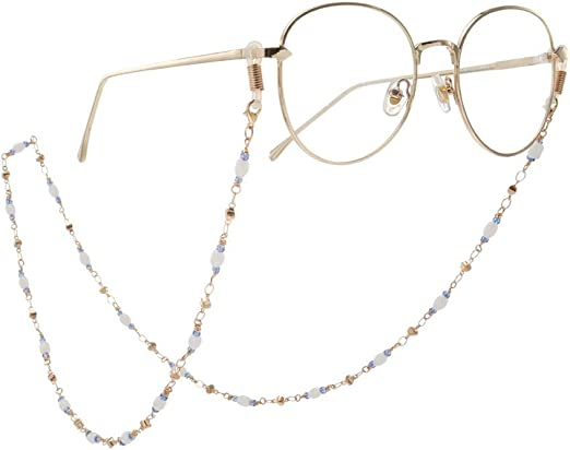 Women Eyeglass Sunglasses Chains Beaded Glasses Strap Rope Avoid To Fall Off