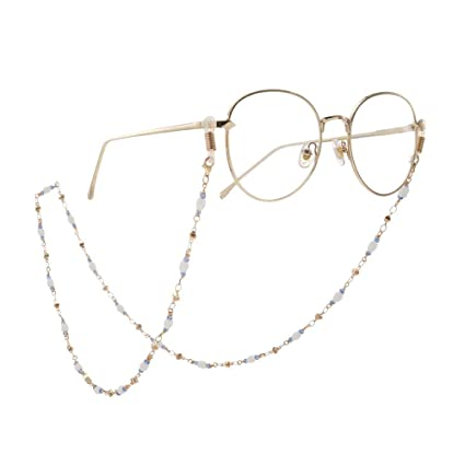 Zxllyntop-Fashion Cadena para Gafas de Sol Perlas de Cristal ...