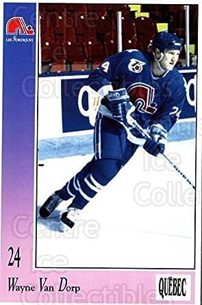 fe8470bc7 (CI) Wayne Van Dorp Hockey Card 1991-92 Quebec Nordiques Postcards 35 Wayne