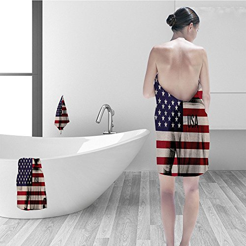 - Nalahomeqq Bath towel set Sports Decor Composite Double Exposure Image Of Soccer Player And American Flag National Usa Run Bathroom Accessories Beige Blue Red