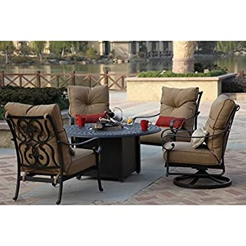 Amazon Darlee Elisabeth 48 Piece Patio Fire Pit Dining Set In Classy Darlee Patio Furniture Minimalist