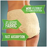 Depend FIT-FLEX Incontinence Underwear for Women, Maximum Absorbency, S/M, Tan (Packaging may vary)