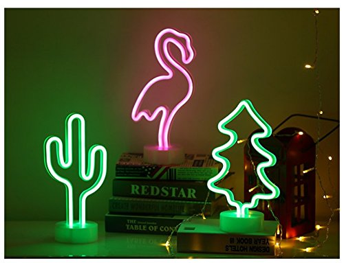 Neon Cactus Indoor Night Light with Holder, LoveNite Glowing Neon Decorative Sign Light for Room Party Festival Decorations by LoveNite (Image #5)'