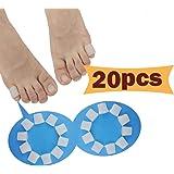 Gel Toe Protectors, Open Toe Sleeves Toe Tubes Toe caps (20 PCS),New Material, Great for Bunion Blisters, Corns, Hammer…