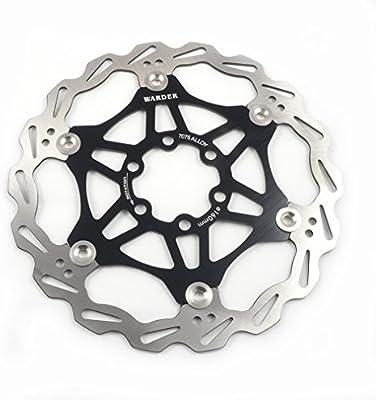 Freno de disco MTB, Bicicleta de Montaña 160mm 180mm 203mm flotante Freno disco rotores compatible con Shimano, Avid, Magura, Hayes, Tektro y muchos más (Negro, 160mm): Amazon.es: Deportes y aire libre
