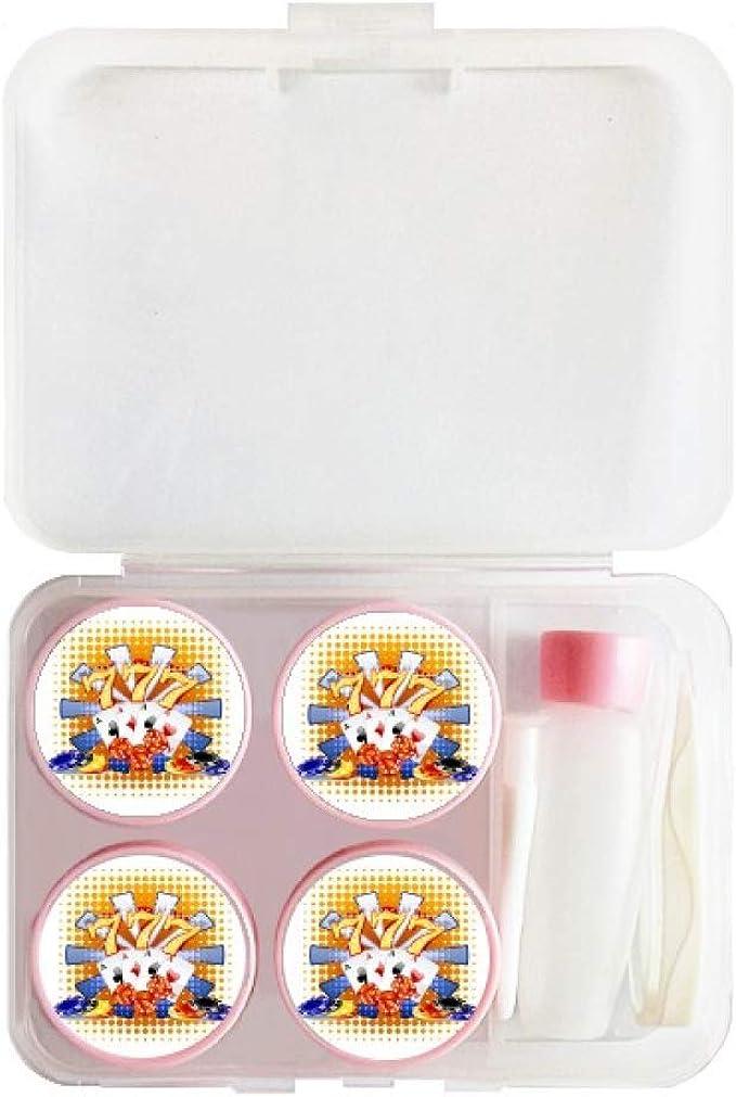 Casino Dice Chips Poker Illustration - Estuche para lentes de contacto: Amazon.es: Ropa y accesorios