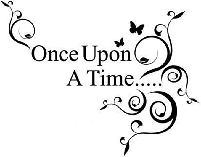 Wall Lettering T37 Inspirational Story King Arthur Fairy Tale Magic Girls or Boys Room Kids Baby Nursery Imagine Once Upon A Time