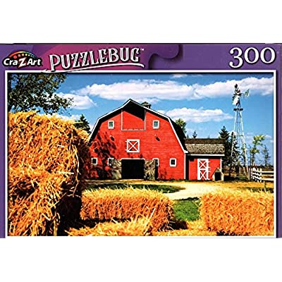 Traditional American Farm - 300 Pieces Jigsaw Puzzle: Toys & Games