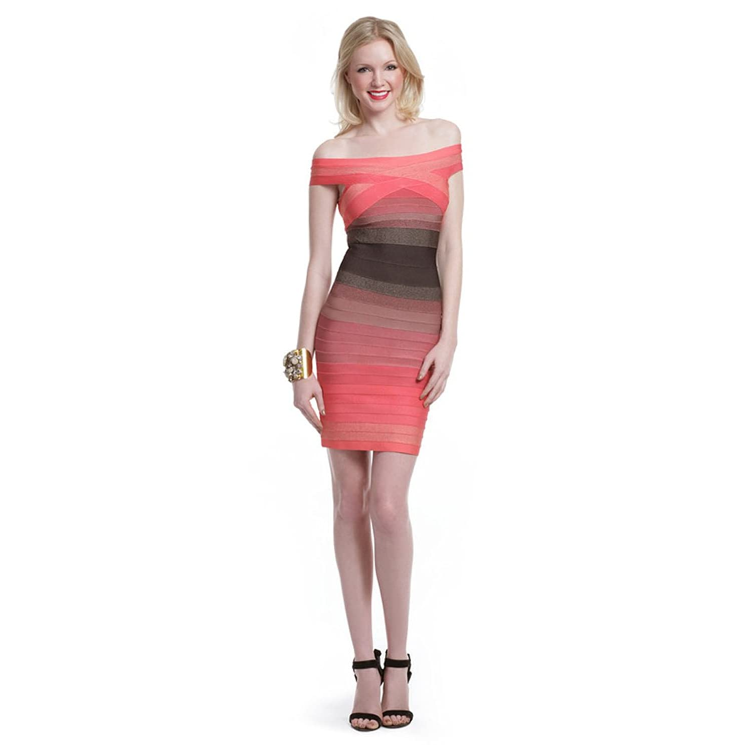 Hlbcbg Rayon Women's Bandage Bodycon Dress Cocktail Party Dress 2167
