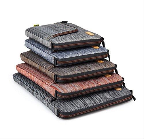 viajes Laptop Asus 14 Denim Bolsa maleta Zipper Handbag Maletín la Funda PsmGoods® de la pulgadas de Lenovo Samsung de transporte bolsa Sony para Dell de Blue Fabric wZpHtqq1