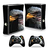 Mightyskins Protective Vinyl Skin Decal Cover for Microsoft Xbox 360 S Slim + 2 Controller skins wrap sticker skins Eagle Eye