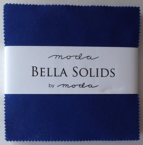Bella Solids Royal Blue Moda Charm Pack by Moda Fabrics; 42-5