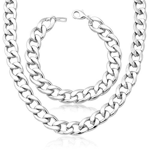 Jewelry Chunky Platinum Necklace Bracelet
