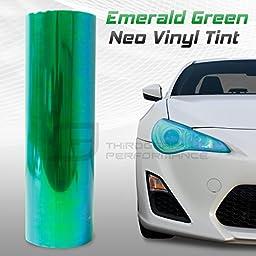 Chameleon Neo Chrome Headlight Fog Light Taillight Vinyl Tint Film - Green - 12x360 In 1x30 Ft