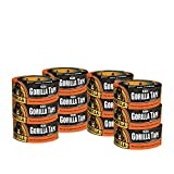 Gorilla Tape, Black Duct Tape, 1.88'' x 12 yd, Black, (Pack of 12)