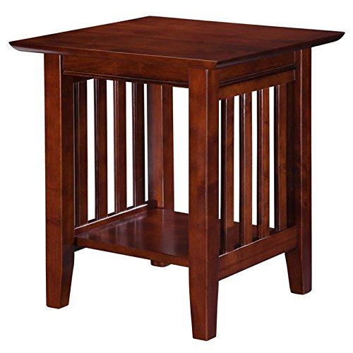 Atlantic Furniture AH14204 Mission End Table Rubberwood, Wal