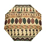 WIHVE Africa Art Umbrella Auto Open Close Windproof Compact