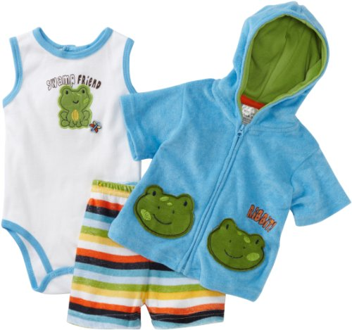 Baby Grand Baby-Boys Newborn Hooded Sweater Set