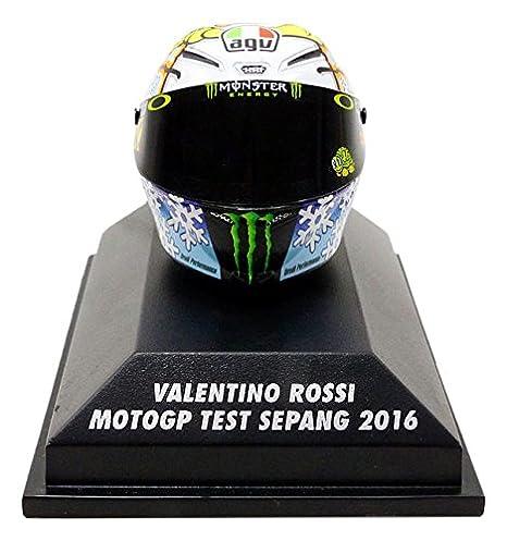 Minichamps Casco Moto GP Test Sepang 2016 V. Rossi AGV, 398160076, en miniatura (escala 1/8: Amazon.es: Juguetes y juegos