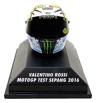 Minichamps Casco Moto GP Test Sepang 2016 V. Rossi AGV, 398160076, en miniatura