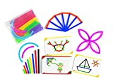 edx Education Junior GeoStix - 200 Multicolored Construction Sticks - Includes 30 Double-Sided Activity Cards - Early STEM and Geometric Math Manipulative for Fine Motor Skills and Creativity