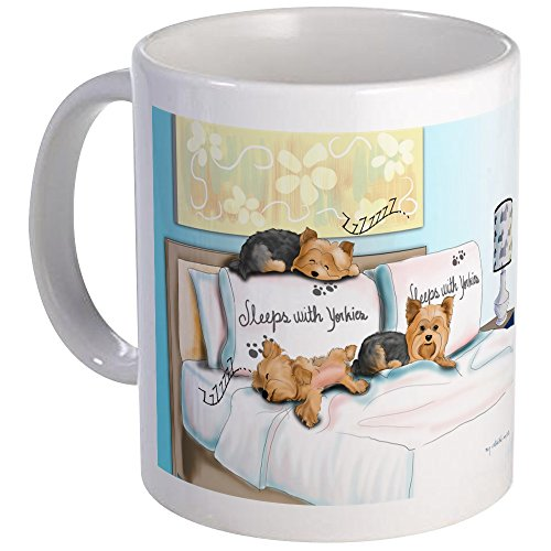 CafePress - Sleeps With Yorkies Mug - Unique Coffee Mug, Coffee Cup