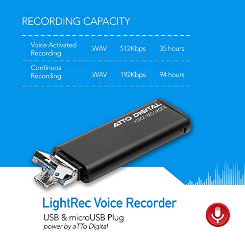 Slim Voice Activated Recorder 94 USB Flash Drive26 Hours Battery8GB