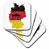 3D Rose German Germany Flag with Branden