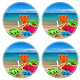 Liili Round Coasters toys for childrens sandboxes against the sea and the beach 28412835
