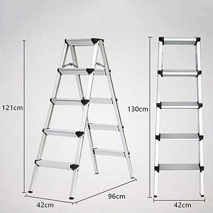 Plegables Aluminio Aleación Escalera,multiusos Antideslizante Escaleras De Mano Portátil Casa Escalera Para El Hogar Cocina Oficina Almacén-negro5: Amazon.es: Bricolaje y herramientas