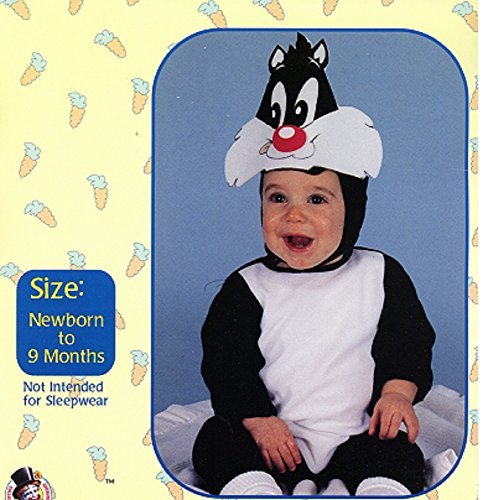 Infant Sylvester the Cat Costume Newborn Baby to 9 Months Looney -