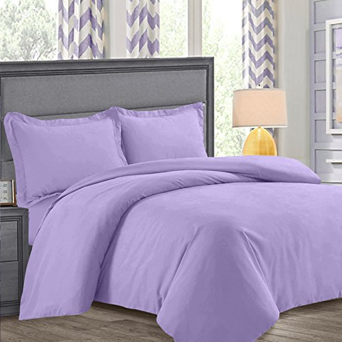 nestl bedding duvet cover protects and covers your comforterduvet insert luxury 100 super soft microfiber queen size color lavender light purple 3 - Liliac Bedding
