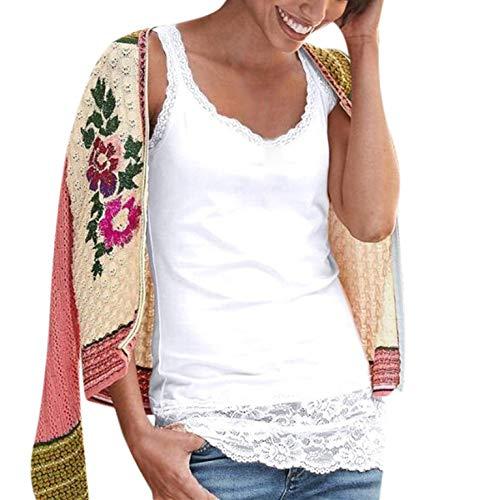 Yxiudeyyr Women's Lace Trimmed Tank Tops Adjust Cami Lingerie Shirts Tunics Slips Dress Shirt White