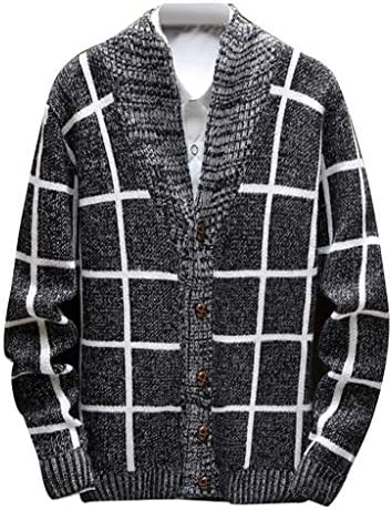 Mens Cardigan Sweater NRUTUP Cable Knit Cardigan Sweater Classic Contrast Button Down Cardigan Loose Winter Basic / Mens Cardigan Sweater NRUTUP Cable Knit Cardigan Sweater Classic Contrast Button Down Cardigan Loose Winter Basic