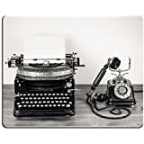 Jun XT Mousepads Vintage máquina de escribir y teléfono antiguo estilo Sepia fotografía imagen 20151845 arte escritorio…