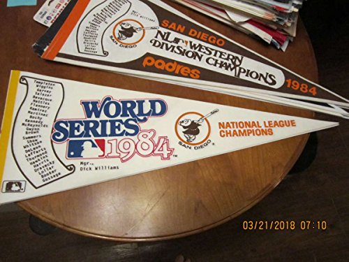 (1984 San Diego Padres World Series pennant scroll)