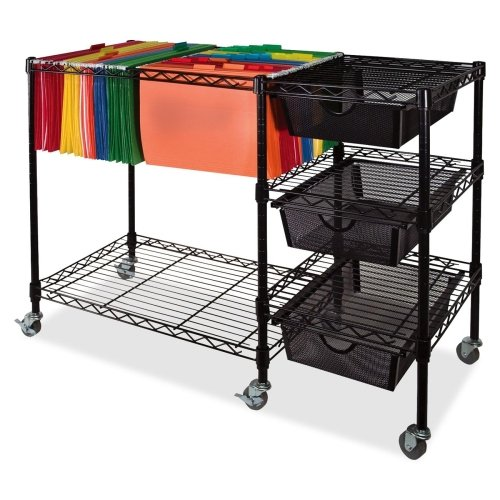 Wholesale CASE of 3 - Vertiflex Mobile File Carts w/ Drawers-Mobile Cart, w/ 3 Drawers, 38