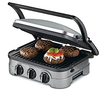 Cuisinart GRID-8NFR 5-in-1 Griddle Contact Counter-top Grill Panini Press Griddle – Love the detachable cooking surfaces