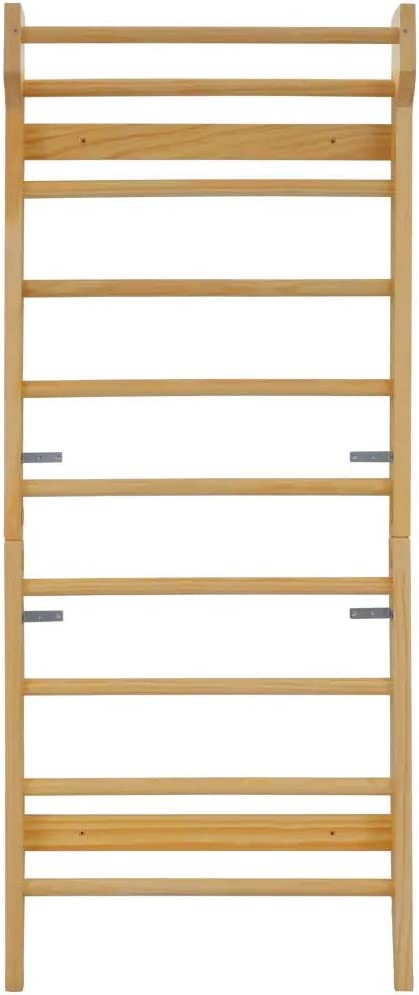 Wall Bar Sport Rack Maximum Load Capacity Up to 100Kg Wooden Fitness Ladder for Home Gym Fitness