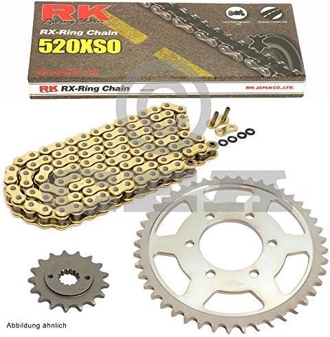 Kettensatz Geeignet Für Yamaha Yfm 700 R Raptor 06 19 Kette Rk Gb 520 Xso 98 Offen Gold 14 38 Auto