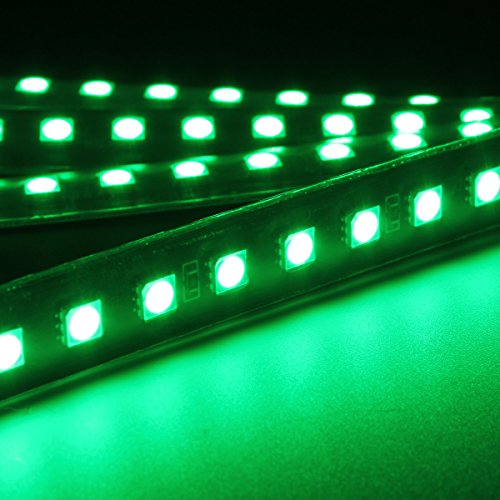 Audew 4 Piece Car Interior Light Strips 12led Waterproof Neon Decoration Lamp Led Car Charger